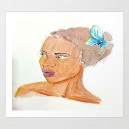 Little Blue Friend Art Print