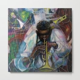 African American Masterpiece 'Old Time Mississippi Jazz' by W. Tolliver Metal Print