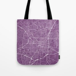 Greensboro Map, USA - Purple Tote Bag