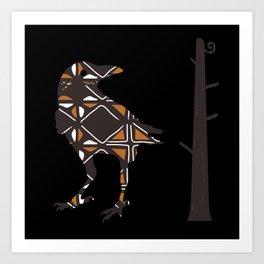 Totemic Crow Art Print