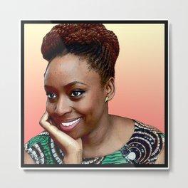 Chimamanda Ngozi Adichie Metal Print