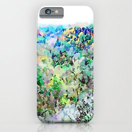 Barbarano Romano: landscape with autumnal forest iPhone Case
