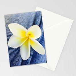 Denim Frangipani Natural Light Stationery Cards