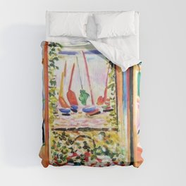 The Open Window Coastal - Floral and Maritime Collioure oil painting by Henri Matisse oil paint Comforters