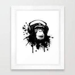 Monkey Business - White Framed Art Print