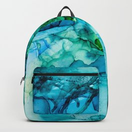 Blue Green Waters Abstract Backpack