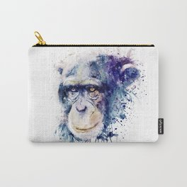 Watercolor Chimpanzee Carry-All Pouch