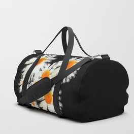 high contrast daisies pastel drawing Duffle Bag