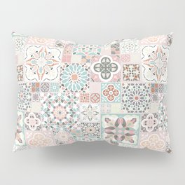 Moroccan Tile Pattern with Rose Gold Pillow Sham