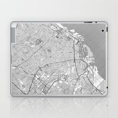 Buenos Aires Map Line Laptop & iPad Skin