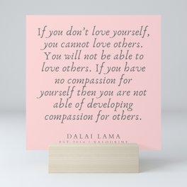 123   | Dalai Lama Quotes 190504 Mini Art Print