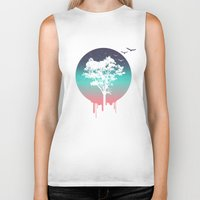 tree of life Biker Tanks featuring Tree Of Life by Jorge Lopez