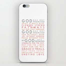 God has promised iPhone Skin