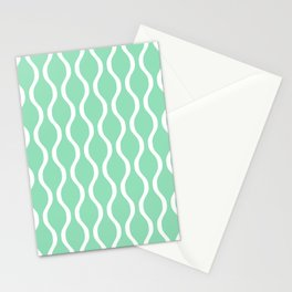 Classic Retro Ogee Pattern 841 Mint Green Stationery Cards