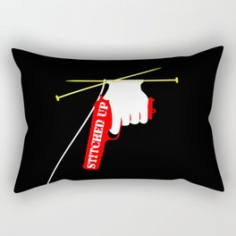 Stitched Up Rectangular Pillow