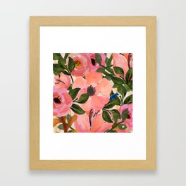 Watercolor flowers and plants 02 Framed Art Print