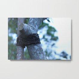 Tied Metal Print