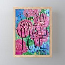 Jeremiah 31:3 Framed Mini Art Print