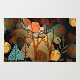 Trees and leaves in sun spots Rug