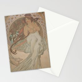 Alfons Mucha / Holmstad flot Stationery Cards