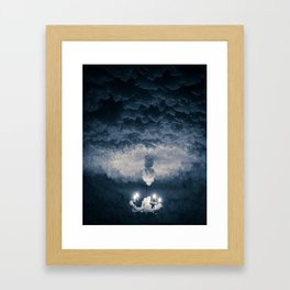 Ice Chandelier Framed Art Print