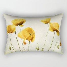Yellow Poppies Rectangular Pillow