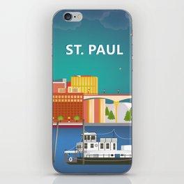 St. Paul, Minnesota - Skyline Illustration by Loose Petals iPhone Skin