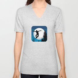 The perfect ollie trick Unisex V-Neck