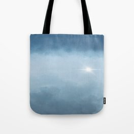 Hope Above the Clouds 2 Steel Blue Gray - Abstract Art Series Tote Bag