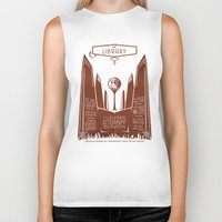 literary Biker Tanks featuring The Library - Your Ultimate Literary Destination by futuristicvlad