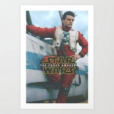 Poe Dameron II / The Force Awakens / Star / Wars Art Print