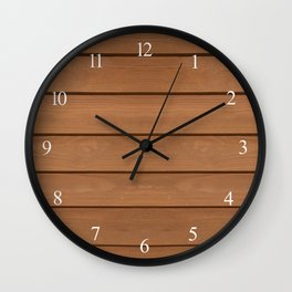 Brown toned boards texture abstract Wall Clock