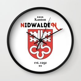 Canton of Nidwalden Wall Clock