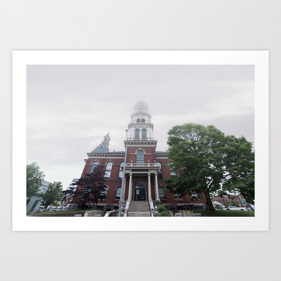 Foggy mrning at City Hall Art Print