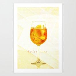 SPRITZ TIME Art Print