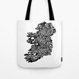 Typographic Ireland Tote Bag
