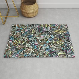 Origami Four Blue Toned Jewels Rug