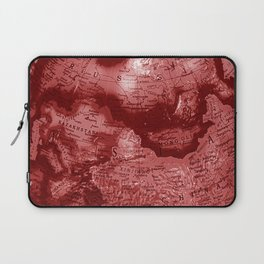 Russia in Red Laptop Sleeve