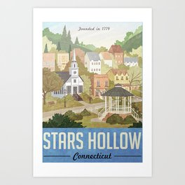 Stars Hollow Autumn Festival Travel Poster, Vintage Travel Poster, Poster Canvas Wall Art Home Decor, Modern Print, Minimalist poster Art Print