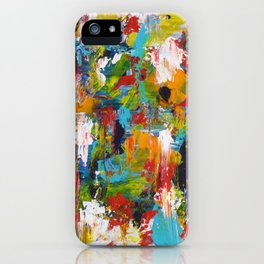 """""""The Abstract Mediterranean"""" Acrylic Painting by Noora Elkoussy iPhone Case"""