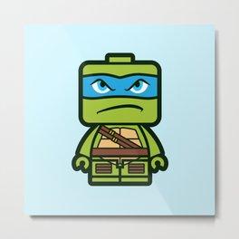 Chibi Leonardo Ninja Turtle Metal Print