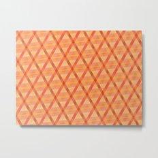 Woven Orange Metal Print