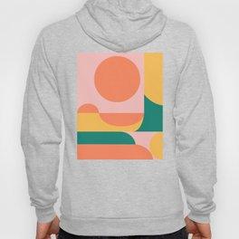 Simple Shapes Artwork in Summer Citrus Colors Hoody
