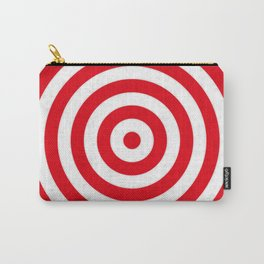 Red target on white background Carry-All Pouch