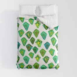 Green gemstone pattern. Comforters