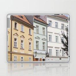 Buildings on a Cobblestone Street in Prague Laptop & iPad Skin