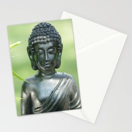 Find Buddha calm in the Summer Garden Stationery Cards