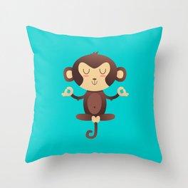 ChimpanZEN Throw Pillow