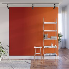 Ombre in Red Orange Wall Mural