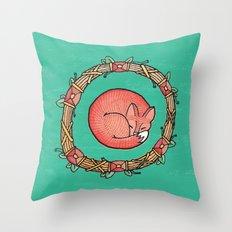 A Dreaming Fox Throw Pillow